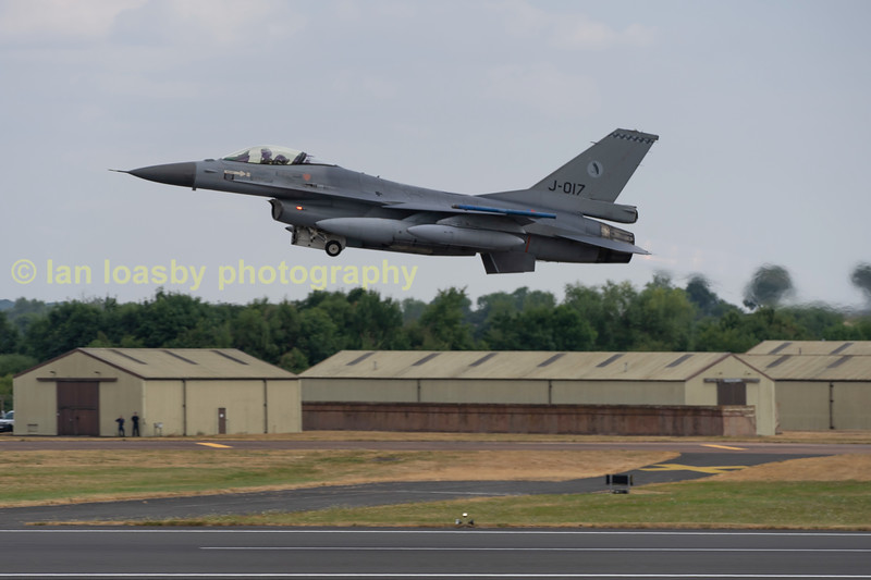 Royal dutch airforce  Fokker (GD)F16-AM Fighting Falcon   Serial No; J-017