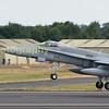 Finnish Air Force MD F18C Hornet departs, Serial no HN 426