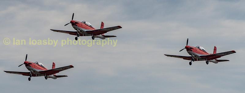 Swiss Air Force aerobatic team 'PC7 depart in their Pilatus PC7's