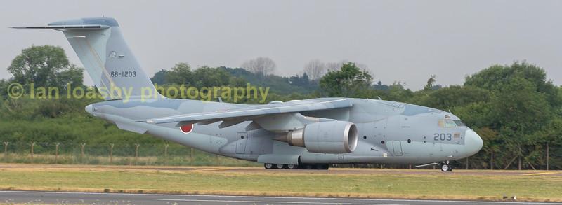 Japanese Air Self Defence Force KAWASAKI C-2 from 403 tactical airlift sqn Miho airbase Japan