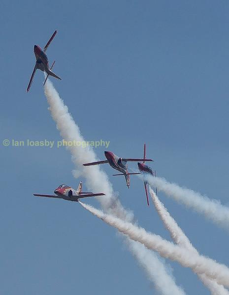 Spains aerobatic  team the 'Patrulla Agulia