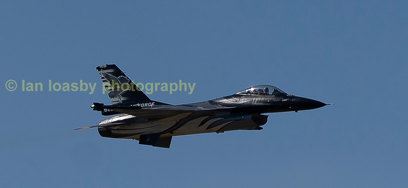 Fast low level F16 flypast