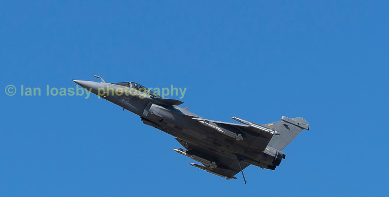 Slow pass for a Dassult Rafale of 12 Flotille French Navy
