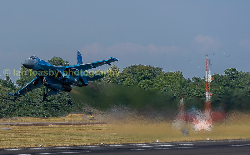 Blast of for the Ukranian  SuKhoi Su:27 based with the 831 Guards TAB