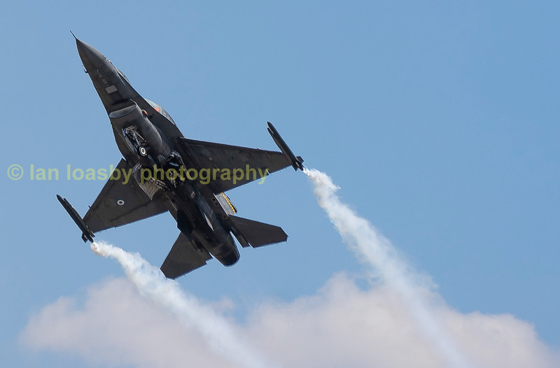 Greek F16 takes to the Gloucestershire skies