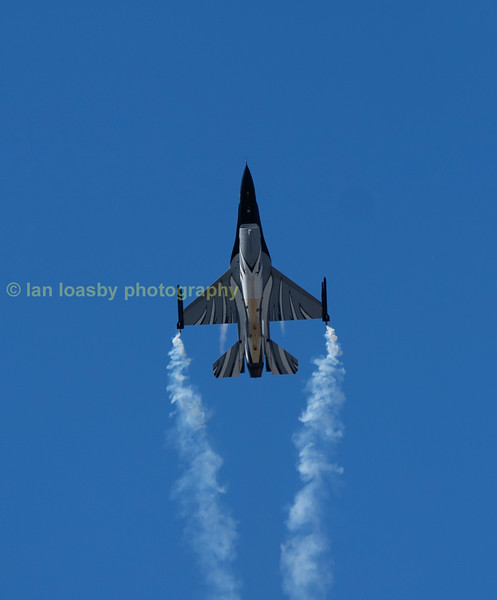 Belgian F16 going vertical during her display, the aircraft is from the Belgian Af's 2nd Wing