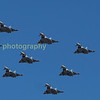 As seen for HM the Queen a formation of 9 Typhoons fly down the crowd line in celebration of the RAF's 100 birthday