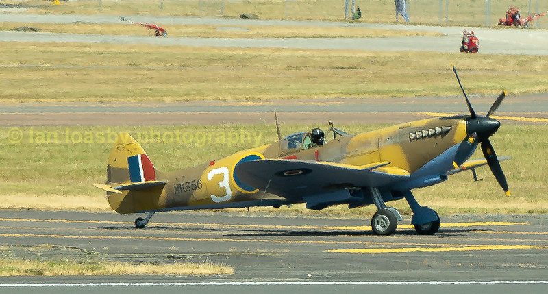 BBMF Spitfire Mk IXe MK356 taxis out