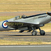 The BBMF PR (photo recon) Spitfire Mk XiX PS915 prepares to jointhe fly pass.