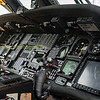 Flight controls of a US Pave hawk helicopter (Co pilot nearest the camera)