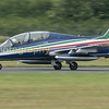 Panning with one of the Italian Frecce Tricolori display team's Aermacchi AT-339A-s