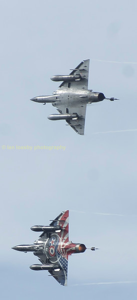 Both mirage 2000Ns of the French air force Ramex delta display team.