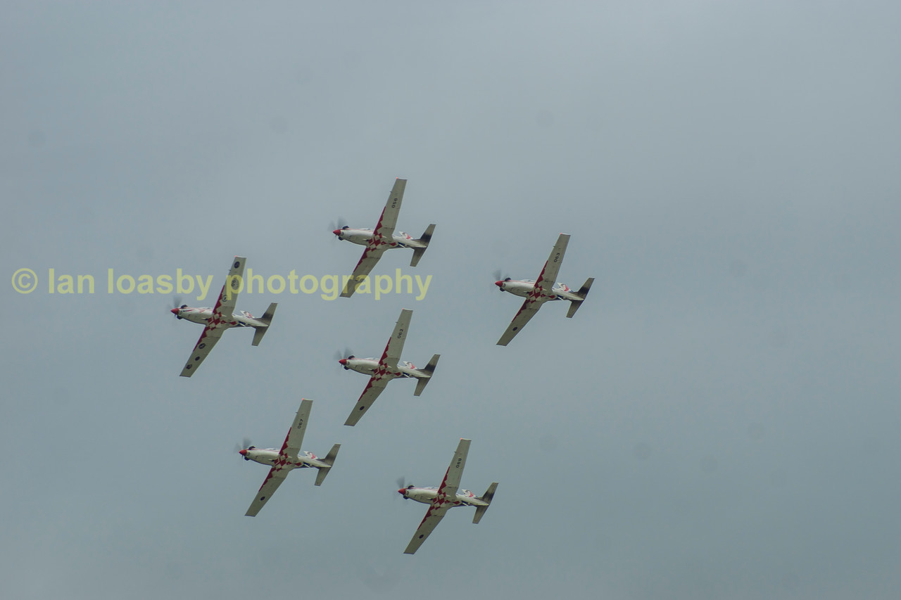 Again controlled close formation flying demonstrated impeccably by the Croatian display team