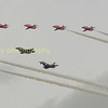 The showpiece fly past of RIAT 2016.  The Red Arrows escort a new F35b and Typhoon  showing the future of RAF and British air power in years to come