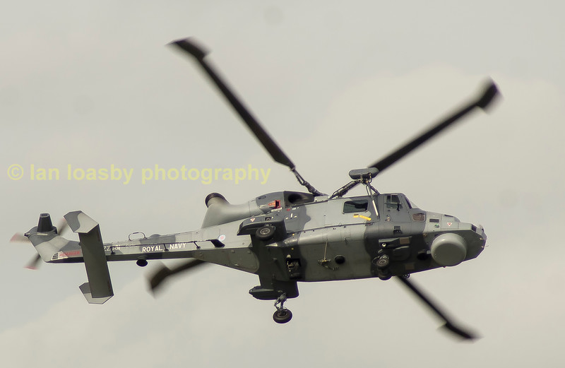 A Lynx of the Black cats Royal Navy helicopter display team.