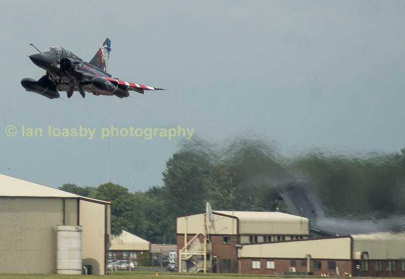 The French Air Force sent over from the 'Escadron de chasse 2/4 'La Fayette 2 x Mirage 2000ns, one which is painted in a very striking livery commemorating  the squadron's 100 year history