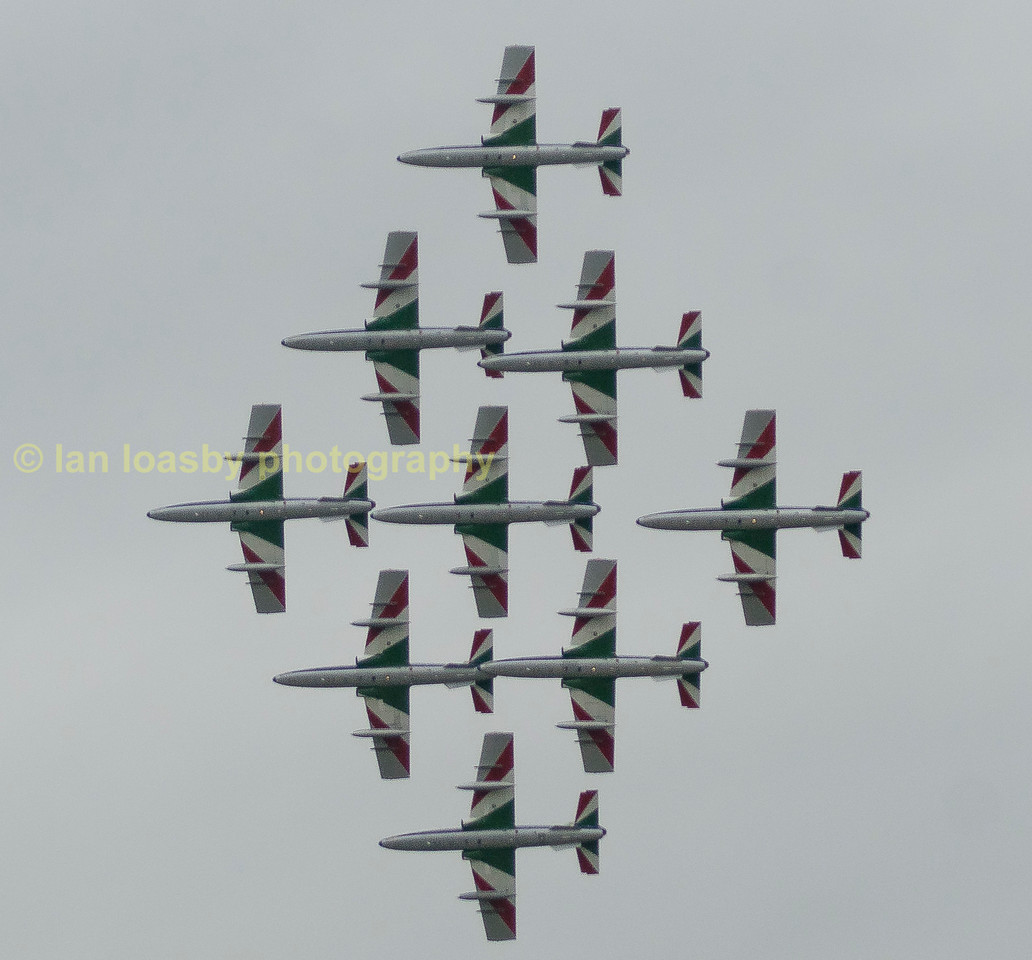 Precision flying from Frecce Tricolori of Italy