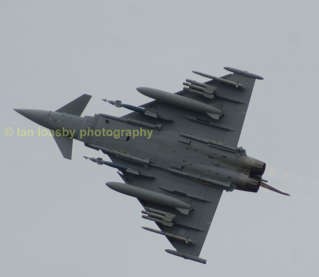 Bae demonstration aircraft in fully armed  mode from Bae sytstems Warton Lancs
