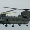 RAF Chinook from Nos 18/27 sqns RAF Odiham Hants
