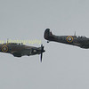 The Hurricane (left) and MK II Spitfire (right)