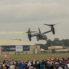 Again behaving the same way as a helicopter the Osprey moves up the crowd line side ways