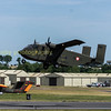 G-BEOL '55TC' A Shorts SC7 Skyvan 3M owned by Eureka aviation departs RIAT 2017 on monday