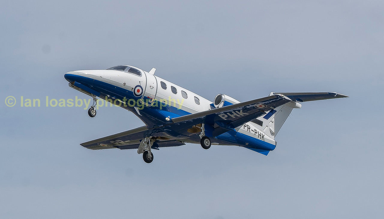 Affinity Flying Services EMB Phenom 100 PH-PHK departs RIAT 2017