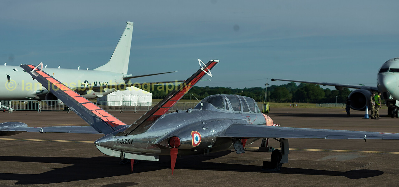 This starnge looking aircraft is French Registered F-AZXV a Fouga CM170 Magister.