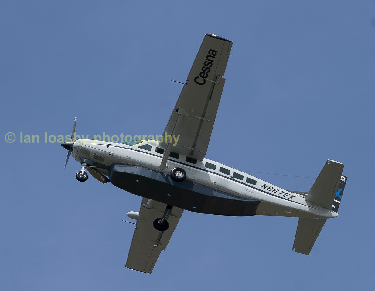Cessna 208 grand caravan EX owned by Textron Aviation seen departing on monday