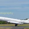 Bombardier Global 5000 A6-RLC departing