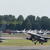 Two departing F16's
