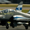 The Finnish Airforce display team, 'The midnight Hawks' departing on monday
