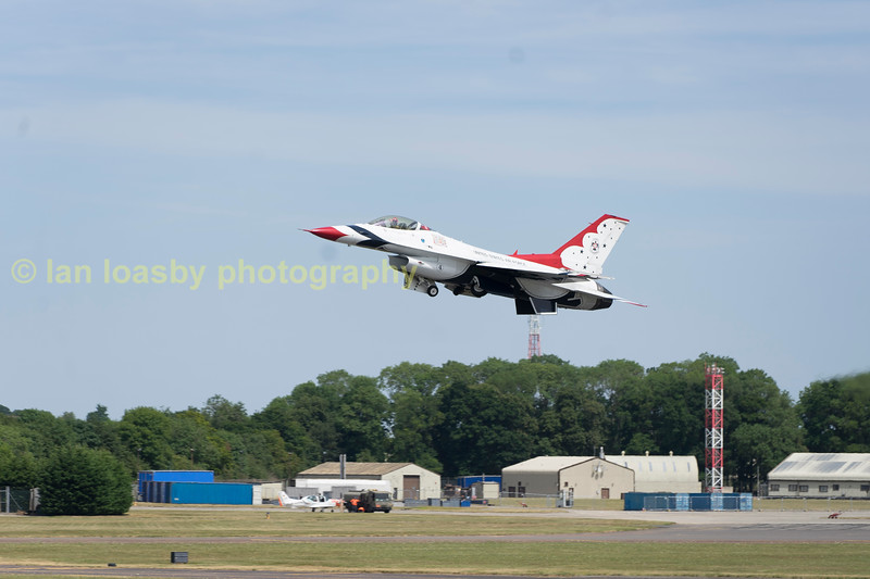 Thunderbird 6 flown by Maj Whit Collins joins the party