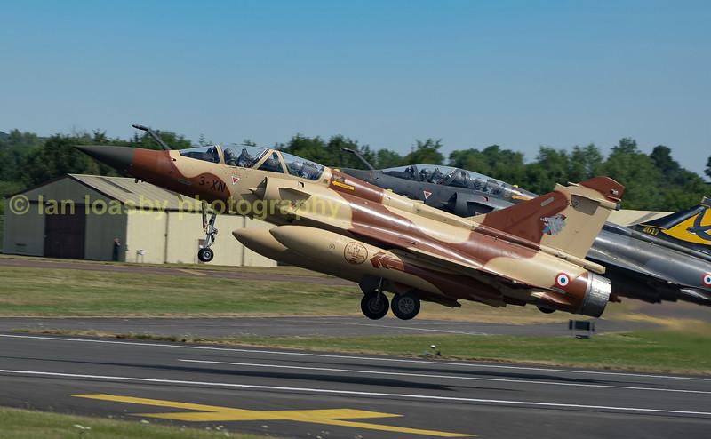 Dasault Mirages of Couteau Delta depart RIAT 2017