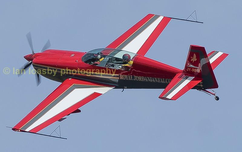 A Jordanian  Falcon departs RIAT