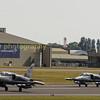 Czech Airforce 's Aero L-159 ALCA's 6054 & 6060 depart RIAT