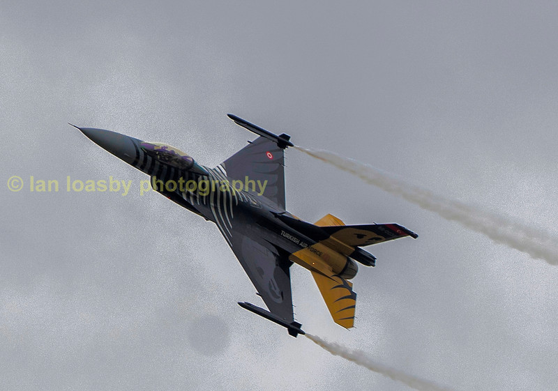 Solo Turk F-16 C of the Turkish airforce