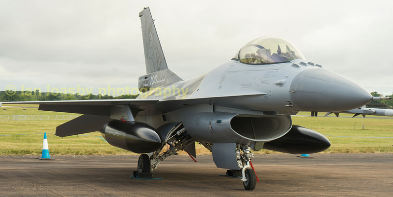 Belgian Airforce F16AM Fighting Falcon FA132 on static display