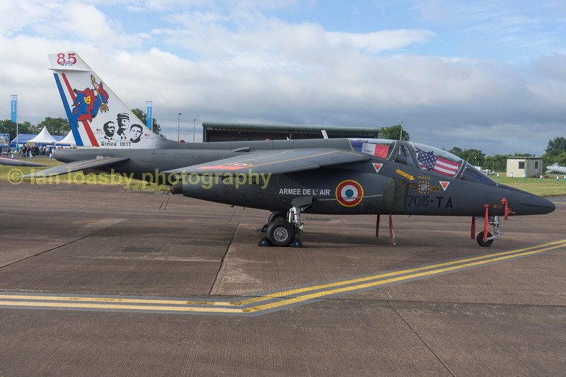 French airforce Dassault / Dornier Alpha Jet E E42 / 705-TA  jet trainer