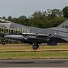 Dutch F-16 J-511 departs RIAT 2017