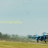 The two visiting Ukrainian Su-27's depart back to the Ukraine
