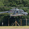 German Navy Lynz 83 / 25 flies down to dispersal at walking pace ready to depart from RIAT 2017