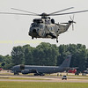German Navy Sea King 89-70 departs RIAT 2017