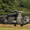 Having Taxied over from the static line display area on departures monday this German Navy Sea King  89-70 heads for the dispersal area and departure from RIAT 2017
