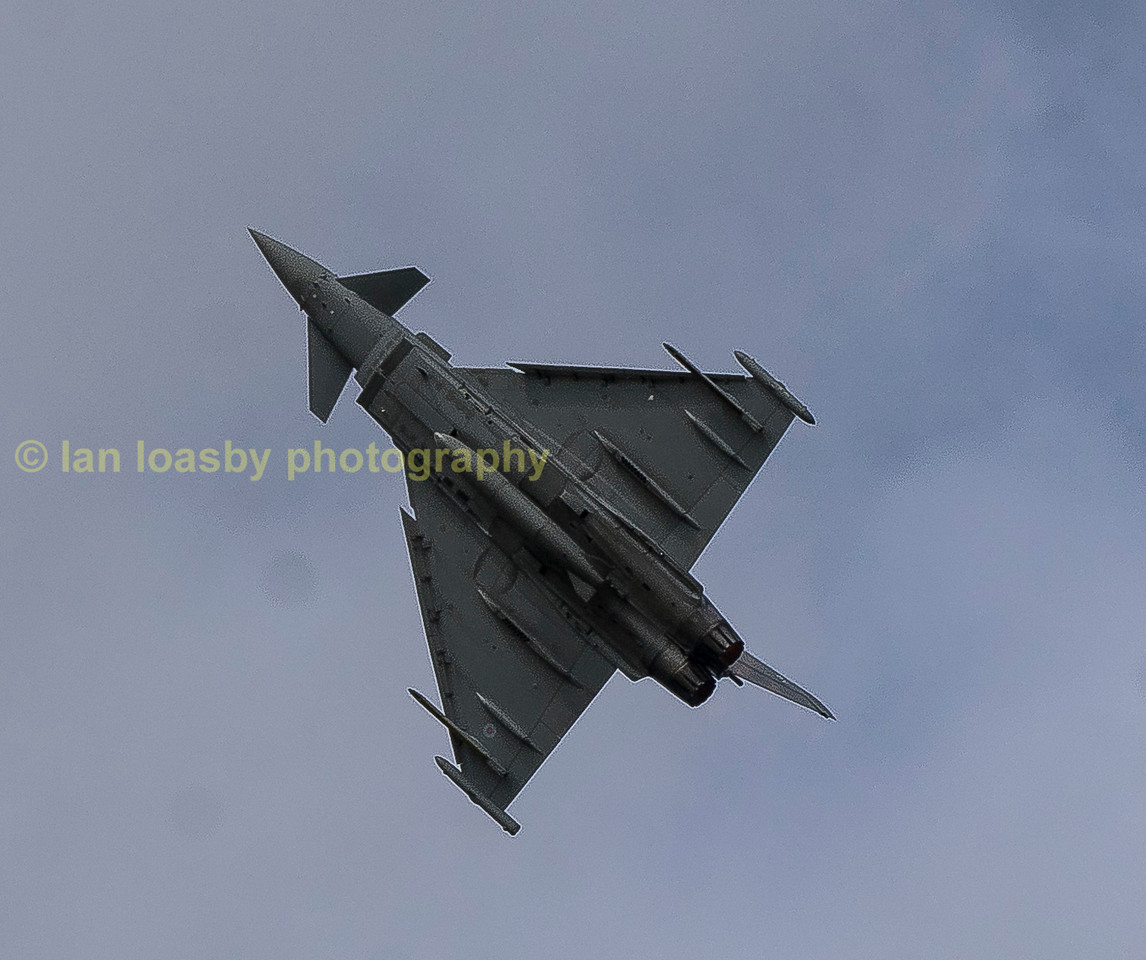 Typhoon ZK352 from 29(v) Sqn is put through its paces
