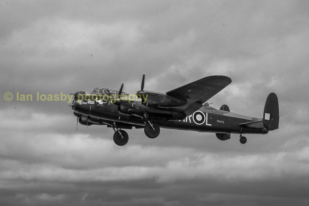 BBMF Avro Lancaster PA474 / AR / l / VN-tT now back from a major overhaul and now sporting two new liveries on either side of the fuselage,
