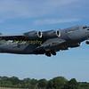 RCAF C17 17703 Globemaster departs RIAT