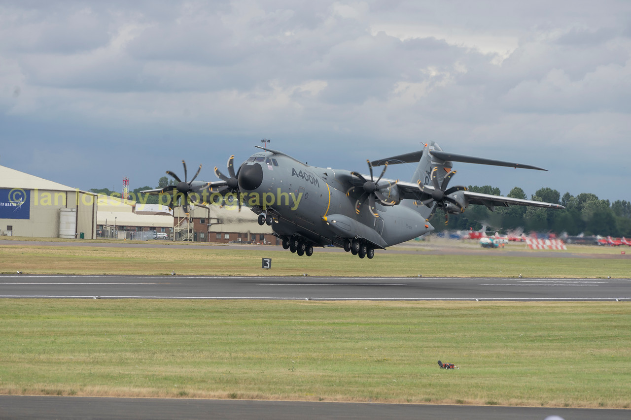 Airbus A400M EC- 404  the Airbus 'demonstrator' starts here display