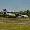 Luftwaffe Transal 51 +01l C-160D taxis down to dispersal tocommence her departure from RIAT