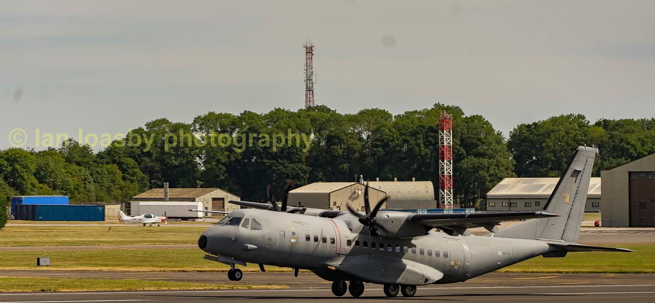 Finnish Airforce Airbus CN 295N CC3  departing RIAT